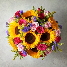 Large Foundation Fiesta Sunflower Bouquet