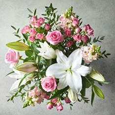 Scented Pink Lily & Rose Bouquet
