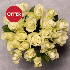 Foundation White Roses Bouquet