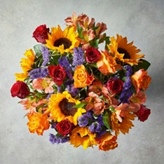 Medium Foundation Fiesta Sunflower Bouquet