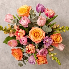 Mother's Day Peach Melba Bouquet