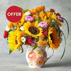 Emma Bridgewater Jug & Large Summer Bouquet