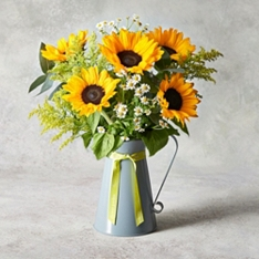 Sunflower & Matriaca Jug