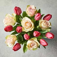 Valentine's Day Roses & Tulips Bouquet