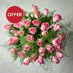 Foundation Pink Roses Bouquet