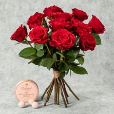 Valentine's Day Upper Class Roses with Charbonnel et Walker Truffles