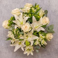 White Rose & Scented Lily Bouquet