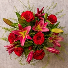 Valentine's Day Rose & Lily Bouquet