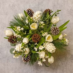 Scented White Christmas Bouquet