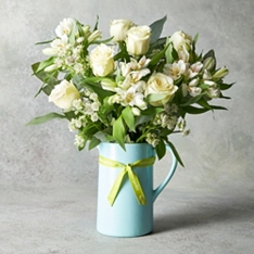 White rose Jug