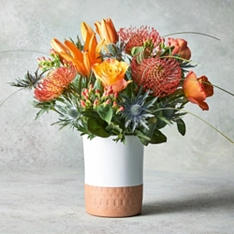 Summer Flower Clay Pot Vase