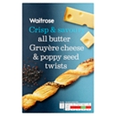 Waitrose Gruyere Cheese & Poppy Seed Twists 125g