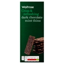 Waitrose Dark Chocolate Mint Thins 200g
