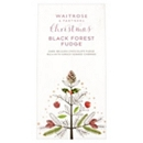 Waitrose & Partners Christmas Black Forest Fudge 130g