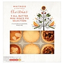 Waitrose & Partners Christmas All Butter Mini Mince Pie Selection 9